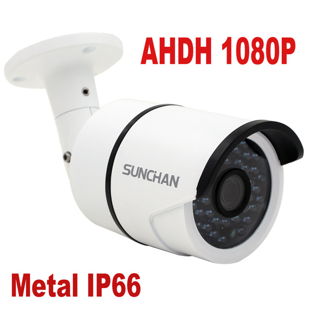 SUNCHAN 1/3'' CMOS AHDH 1080P AHD Camera CCTV IR Cut Filter Camera AHD 1080P Outdoor Waterproof