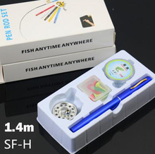 1.4 m SF-H fly fishing reel mini pen fishing rod ice fishing rod suits Travel  Portable fishing rod English Boxed