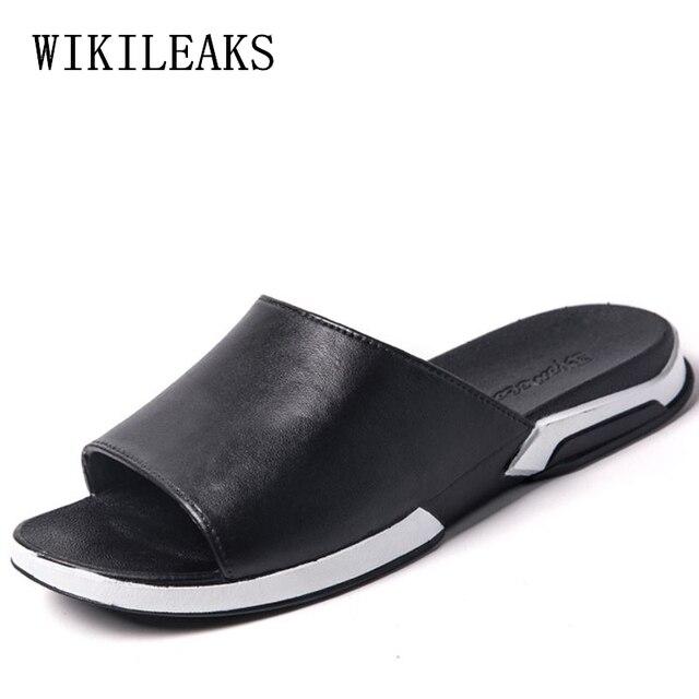 5a4e90639f7be1 slippers men shoes flat slides for men zapatos de los hombres zapatillas  pantuflas designer slides luxury brand beach slippers