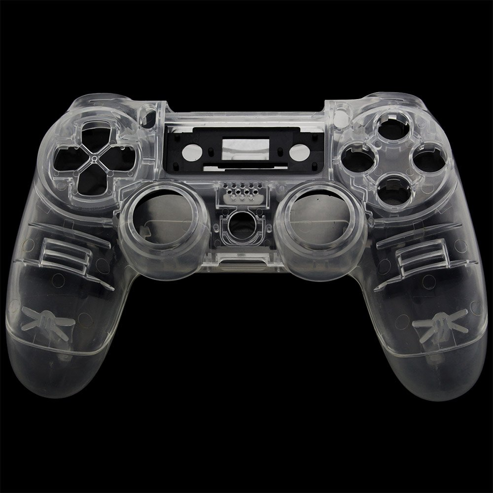 <font><b>PS4</b></font> Front Back Replacement Shell <font><b>Case</b></font> Cover Repair for Playstation 4 <font><b>PS4</b></font> Wireless V1 Controller Gamepad Clear Transparent Custom image