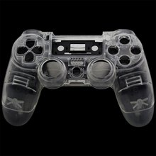 PS4 Front Back Replacement Shell Case Cover Repair for Playstation 4 Wireless V1 Controller Gamepad Clear Transparent Custom