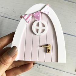 Ручная работа, розовая Волшебная Дверь, отличный подарок для девочек, миниатюрная игра, Волшебные феи, Волшебная Дверь, рождественский