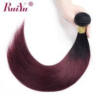 RUIYU предварительно окрашенные волосы 3/4 пучков 1b 99J бордовые пучки волос Омбре бразильские прямые человеческие волосы переплетения пучки во...