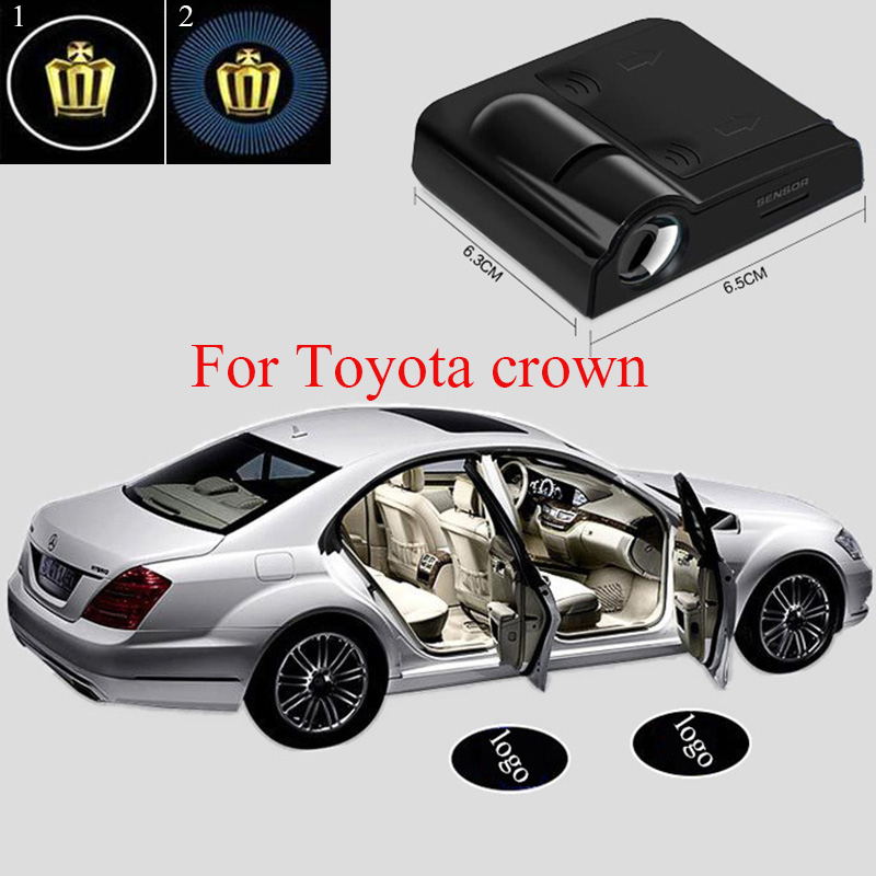 2x Led Wireless Car Door Logo Lights Laser Welcome Lamp For Toyota corolla avensis rav4 auris crown 2x led car door welcome light for toyota corolla emblem logo projector lamp for toyota corolla spoiler estate levin coupe saloon