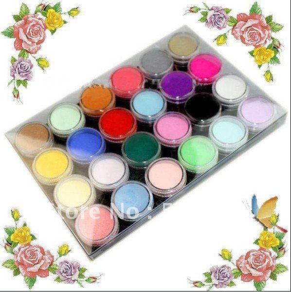 Acrylic Powder Acrilico Nail Polvo Acryl Nagels Poudre 24 Color Kit Acrylique Art Colored Polvere Acrilica Unghie Herramientas