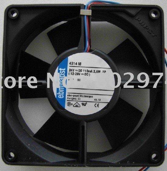 Original ebmPAPST 120*120*32MM 12cm  4314M 24V 2.6W Cooling Fan new original german ebmpapst 4650n 12038 12cm ac220v temperature cooling fan