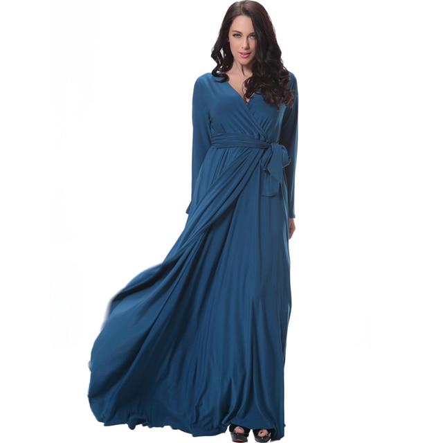 Full Figure dress Women Fall Long Dress Plus Size Women Maxi Dress ...