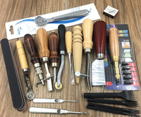 FREE SHIPPING High Quality 18 Piece Leather Tool Set 20 Piece DIY Hand Tool Set 18pcs