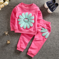 4-24M 2017 Kids Spring Autumn Clothing Set Baby Girls Sets Baby Clothes Girl Toddle Girl Outfits Coat + Pants Cotton Clothes