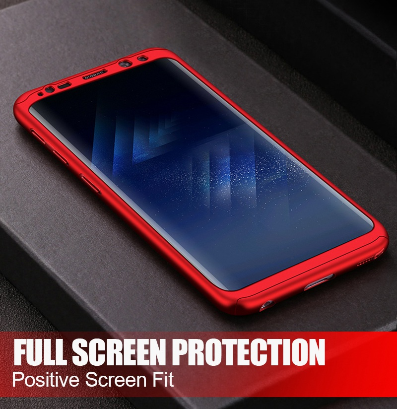 Luxury 360 Full Cover Case For Samsung Galaxy S8 S7 Plus Cases Shockproof PC With Glass TOMKAS Case For Samsung Galaxy S8    (6)
