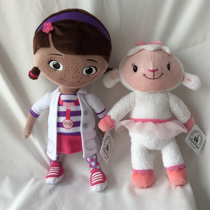 Free Shipping Original Doc McStuffins Plush Toys 32cm Dottie Girl And 27cm Lambie Sheep Soft Baby Doll For Kids Gift