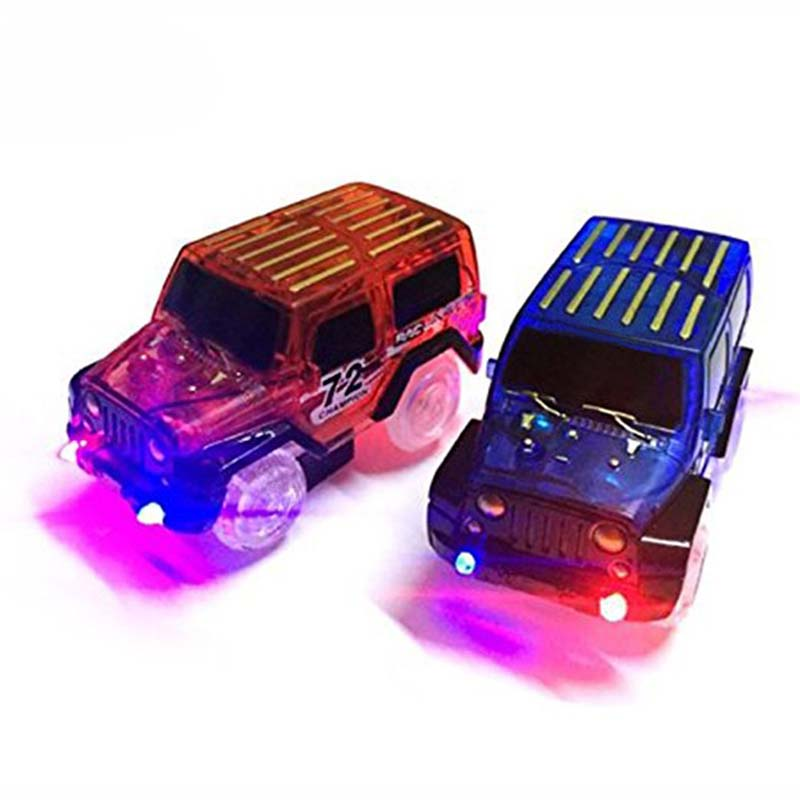 Miraculous Magic Car Looping Race Run Large Glowing Race Track With Electric Kids Race Track Diy Flashing Toys For Children gift image