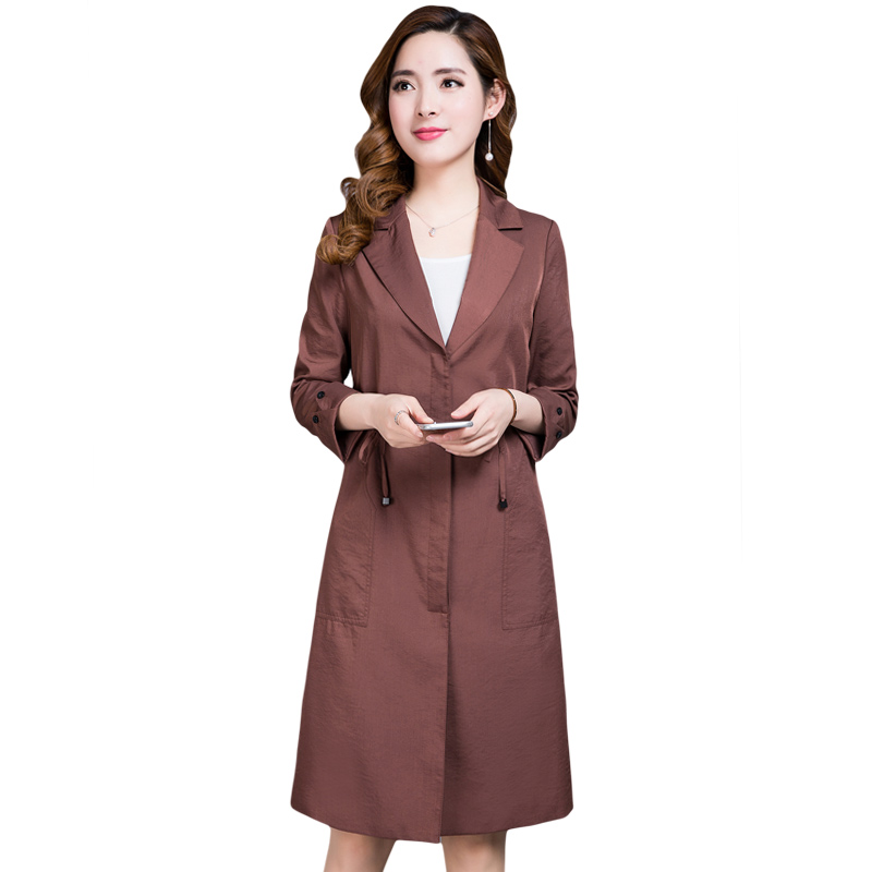 khaki Trench vent Couleur Qpipsd Ceinture Printemps browrn2 Manteau browrn Grande black Femelle Automne Single Mode pink Beige Coupe 2018 De breasted Femmes Pure Taille EE7xOHqnw