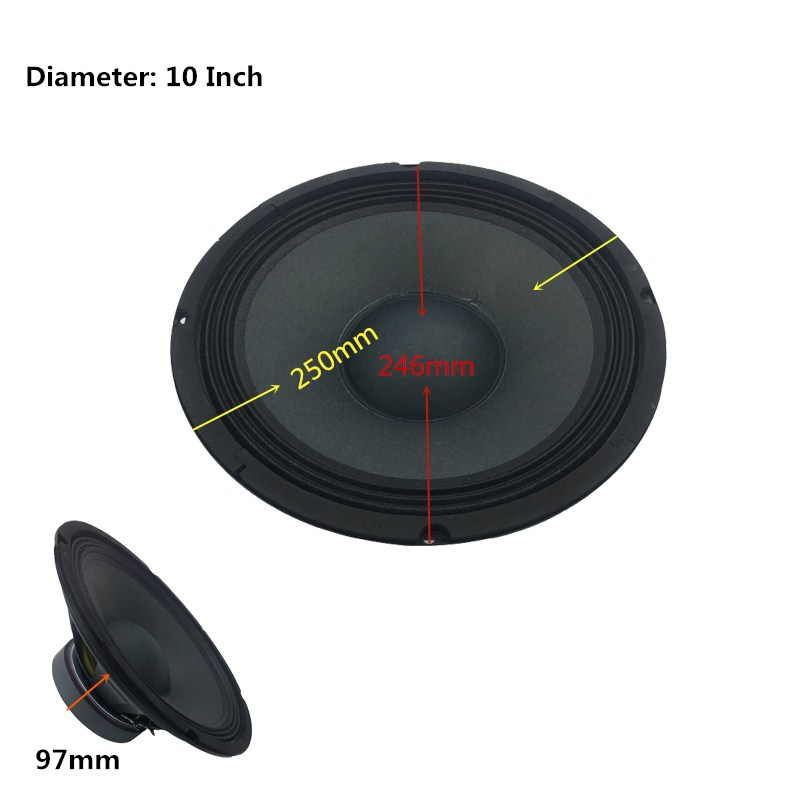 2018 Cheap Price HiFi 10 Inch 8 Ohm Powerful Audio Subwoofer Quality KTV DIY Acoustic Louder Speakers Box Woofers Parantes