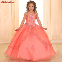 Lace Flower Girl Dresses for Weddings Evening Flowergirl First Communion Pageant