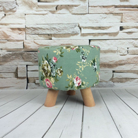 Low Stool Cloth Stool Sofa Stool Round Stool Change Shoe Stool Cartoon Solid Wood Detachable Cloth