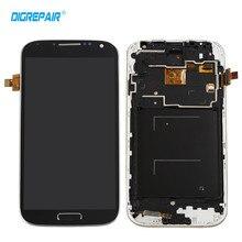 Negro Para Samsung Galaxy S4 i9505 LCD de Pantalla Táctil Digitalizador Asamblea Completa + Bisel Del Capítulo del Envío libre