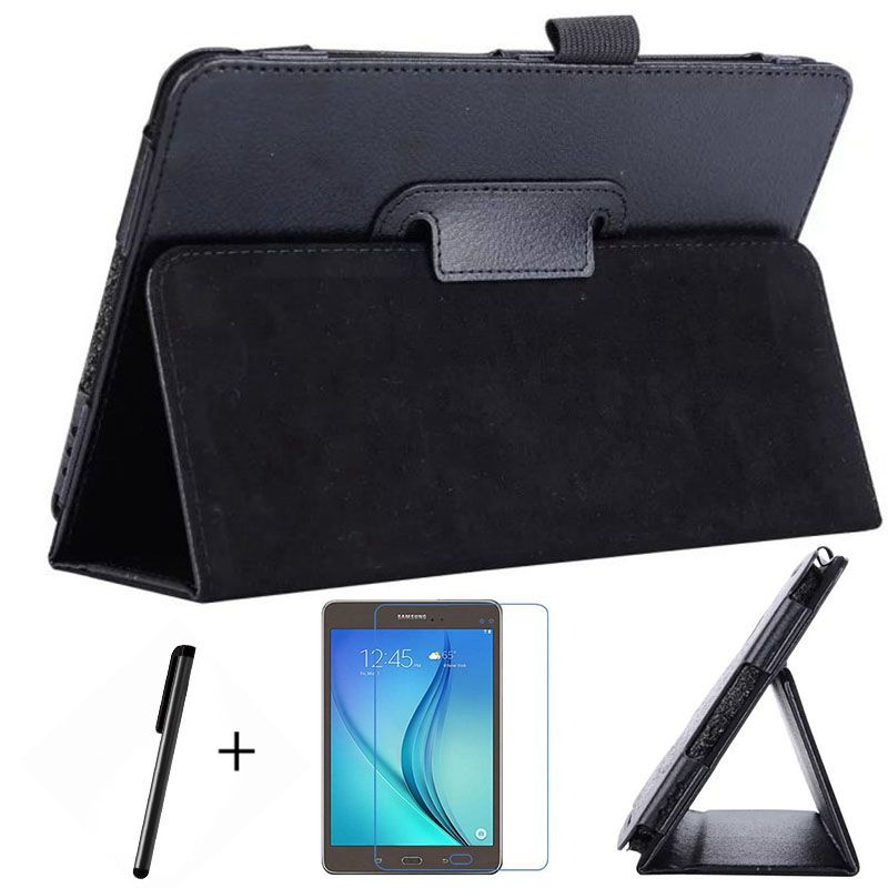 Top Quality Stand PU Leather Cover Case For Samsung Galaxy Tab A 8.0 T350 T355 P350 P355 Tablet+Free Screen Protector+Pen