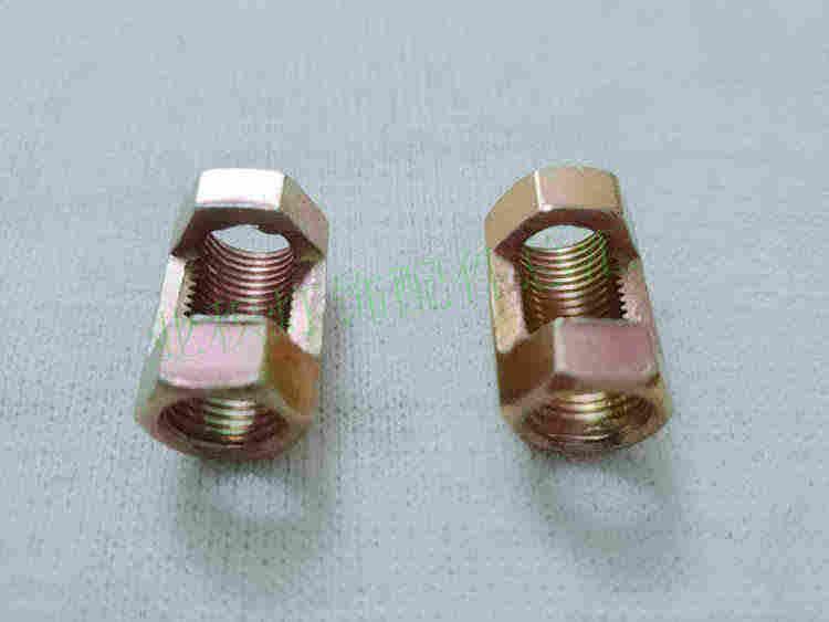 צינור חלול גדול שן אגוז אגוז פתוח משותף להעביר שש פינות פתיחת אגוז אגוז hex צינור שן תאורה ואביזרי מתאם DIY