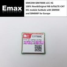 SIMCOM SIM7000E B3/B8/B20/B28 LCC 4G 100% yeni ve orijinal SIM7000E NBIoT ve LTE CAT m1 modülü uygun SIM900 ve SIM800F avrupa