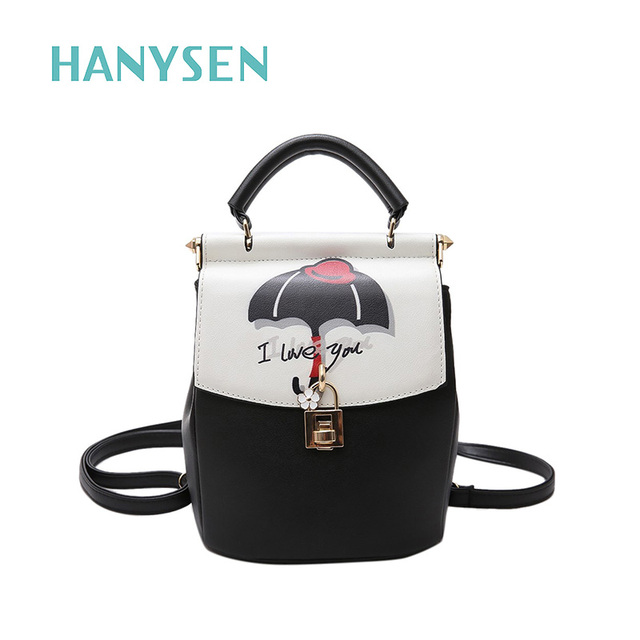 05d7608af3 New Fashion Small Leather Backpack For Women Cute Letter Print Bags Korean  Ladies Drawstring Back Pack Preppy Mini Travel Bag