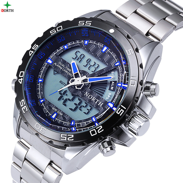 2017 Luxury Brand New Men Watch With Logo Tag LED Electronic Watch Diving Horloges Mannen  Sports Wristwatch Men Digital-Watch
