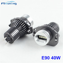 FSTUNING E90 E91 40W LED Angel Eyes Marker Lights Bulbs For BMW E90 E91 2005-2008 before LCI with factory xenon headlight цена в Москве и Питере