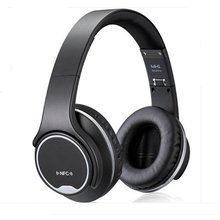 Over-Ear Headphones PluStore Foldable Wireless Bluetooth 3.0 on-Ear 2in1 Headphones Twist Out Speaker Stereo Headset Black недорого