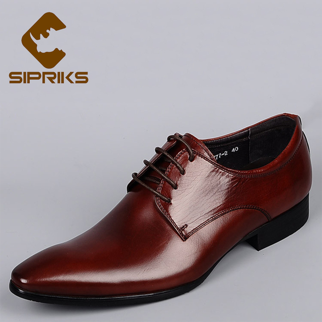 Sipriks luxury burgundy derby shoes for men elegant black ...