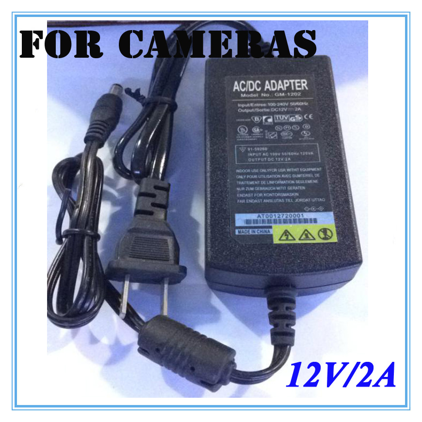 EU/US 12V 2A Power Supply AC 100-240V To DC Adapter Plug Double outlet For CCTV Camera / IP Camera Surveillance Accessories 2pcs 12v 1a dc switch power supply adapter us plug 1000ma 12v 1a for cctv camera