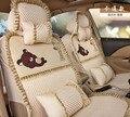 5 unids/set four season mujeres cubierta de asiento de coche cordón de las muchachas de la historieta encantadora cojín del asiento de coche cubre cojín hembra estilo