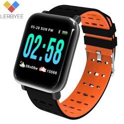 Lerbyee A6 Смарт-часы монитор сердечного ритма Спорт Фитнес трекер сна Водонепроницаемый спортивные часы группа для IOS Android подарки