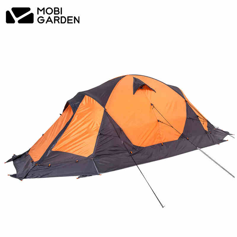 Mobi Garden Professional 2 Person Double Layer Ultralight Waterproof Camping Tent With Snow Skirt