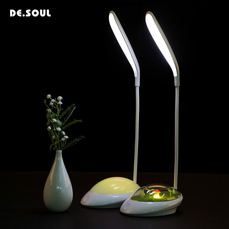 DE.SOUL Desk Lamps LED Bed Reading Book Light Desk Lamp USB Charging Table Lamp Desk Lamps Led Table Light Table Touch 3 Modes new arrival t10 led panel desk table light lamp 7w 12v desk lamps reading light sliding touch dimmer desk night light lamps hr