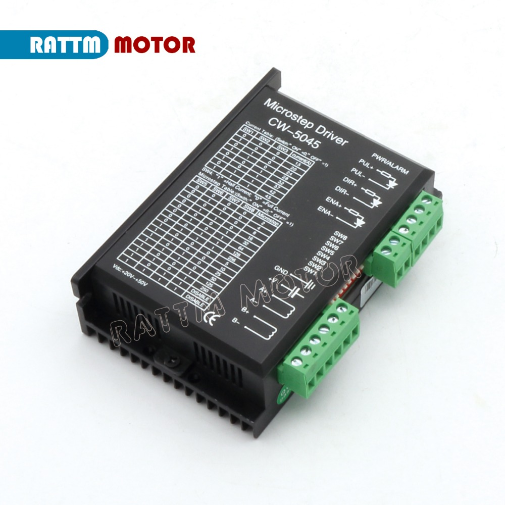 CW5045 Stepper motor driver 50VDC 4.5A 256 Microstep for Nema17 23 stepper motorCW5045 Stepper motor driver 50VDC 4.5A 256 Microstep for Nema17 23 stepper motor