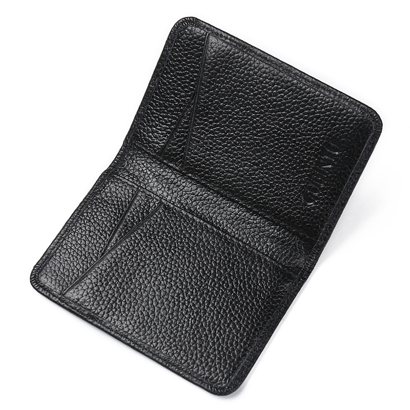 Slim Business Leather ID Credit Card Holder Bifold Wallet with RFID Blocking Fashion Card Holder 100 Genuine Leather in Wallets from Luggage Bags