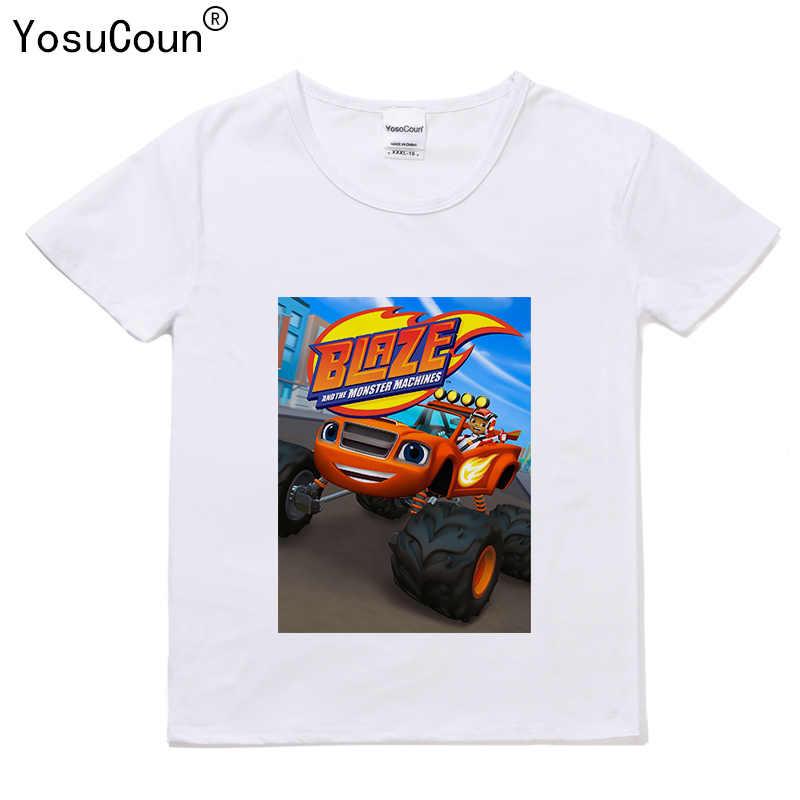 5c58d8b34 Niños camiseta para niños Monster máquina camiseta Tops niños Blazing Speed  corto-manga de la