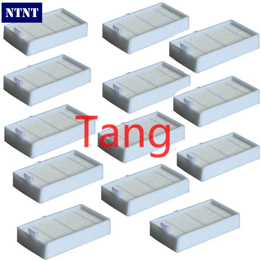 все цены на NTNT 13 Piece dibea x500 hepa filter For Ecovacs Mirror CR120 Dibea x500 x580 Series Vacuum Cleaner Free shipping онлайн
