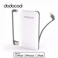 dodocool MFi Certified Ultra Slim 5000 mAh 2 Port Power Bank Portable Charger Backup External Battery Pack for iphone 6s 7 plus