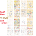 Classic Emoji 1pc sticker 48 WeChat AliExpress Smile face stickers for notebook albums message Twitter Vinyl toys Send Randomly