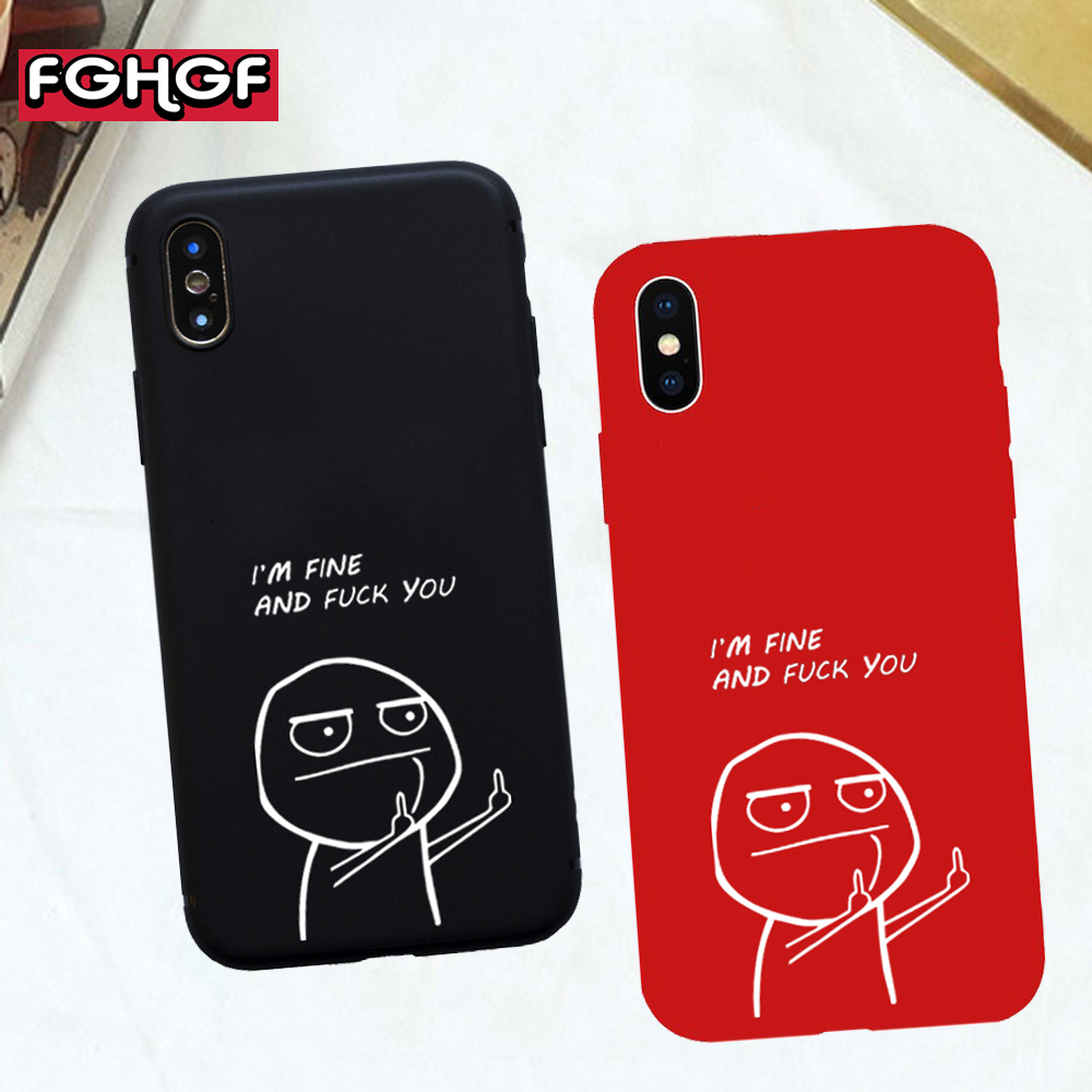 FGHGF Funny Cartoon Lovers Phone Case For iphone X Case ...
