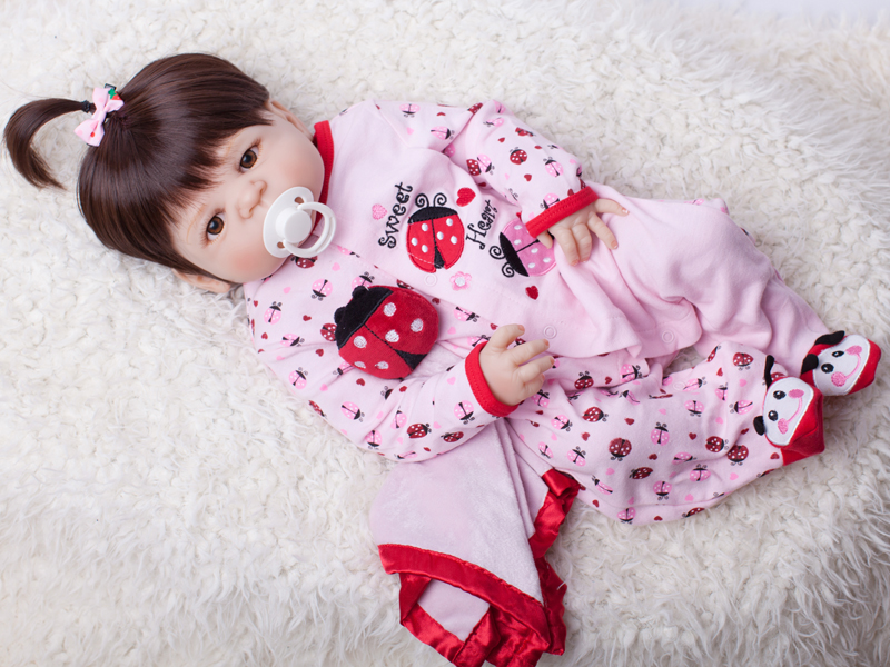 55cm Full Body Silicone Reborn Baby Doll Toy Baby-Reborn Babies Dolls Lifelike Child Birthday Christmas Gift Bathe Toy christmas gifts in europe and america early education full body silicone doll reborn babies brinquedo lifelike rb16 11h10