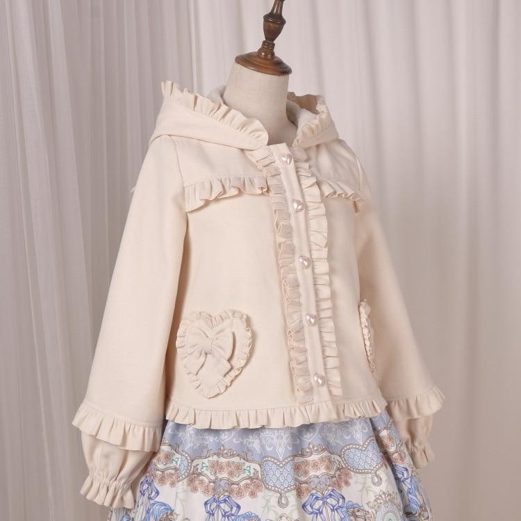 Sweet Mori Girl Winter Jacket Cute Cat Ear Hooded Lolita Jacket