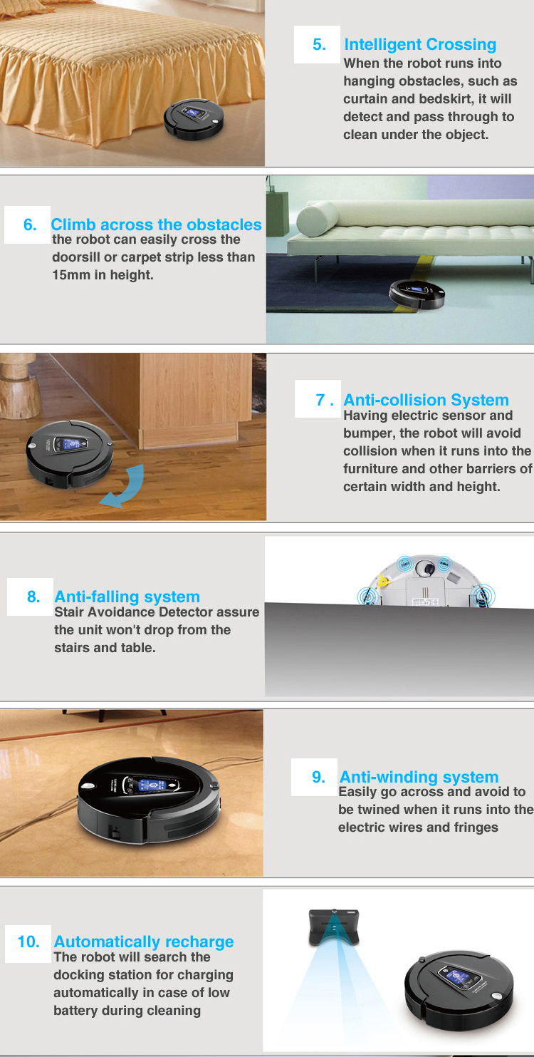 Most Advanced Multifunction Robot Vacuum Cleaner for Home A335 ...