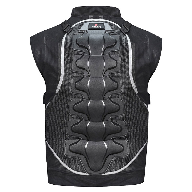 WOSAWE Sleeveless Motorcycle Body Skateboard Extreme Sports Protective Vest PE Hardshell Spine Protector Back Support