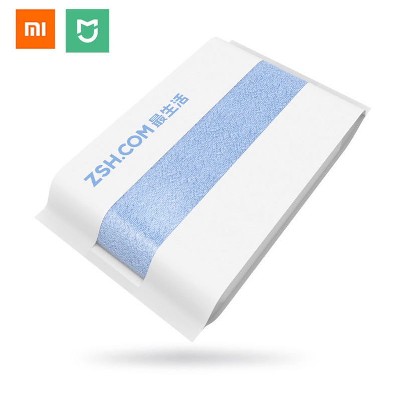 цена Original Xiaomi mijia ZSH Bath Towel Cotton Xiaomi Beach Towel Washcloth Washcloth Antibacterial Water Absorption 27.5x55 inch