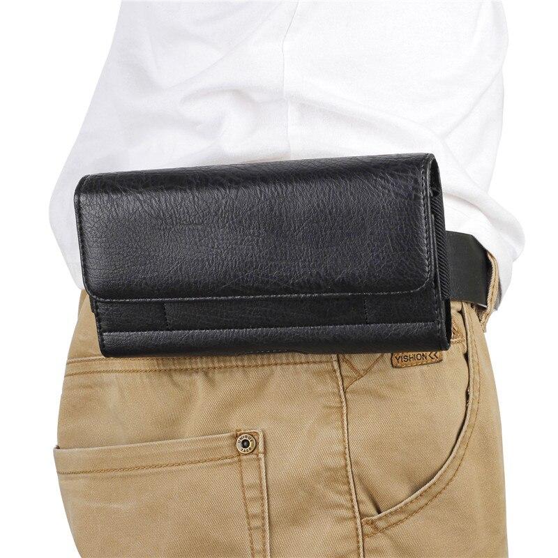 Nouvelle Hommes Taille Pack Ceinture Clip Sac pour iPhone 7 6 6 s plus Pouch Étui Cas De Couverture Classique Téléphone cas avec Porte-Cartes