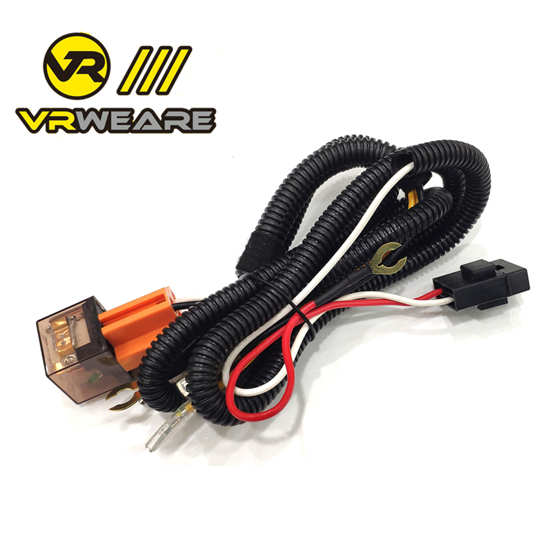universal 12V Horn cable Relay For Grille Mount Blast Tone Horns motorcycle horn wire Wiring Harness Kit Car Truck Relay Fuse(China)