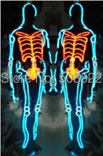 LED Costumes EL Costumes cold light DIY male performance LED under fluorescent costumes magic under the stage , Support custom