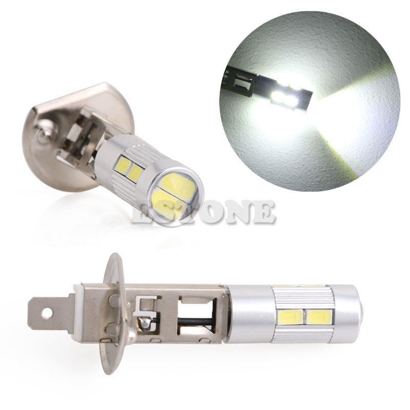 1pc 5630 SMD 10 LED H1 Voiture Lampe  Brouillard Ampoule Phare DC 12V Jy22 19 Dropship